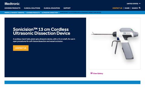 Sonicision™ 13 cm Cordless Ultrasonic Dissection Device   Medtronic