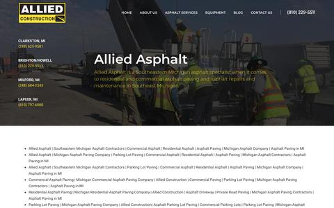 Screenshot of Site Map Page alliedasphalt.com - Allied Asphalt | Southeastern Michigan Asphalt Contractors | Commercial Asphalt | Residential Asphalt | Asphalt Paving | Michigan Asphalt Company | Asphalt Paving in MI - captured Oct. 3, 2018