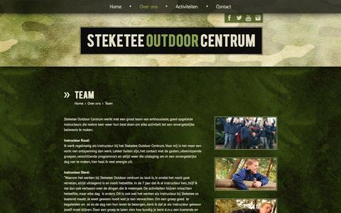 Screenshot of Team Page steketeeoutdoor.nl - Steketee Outdoor Centrum - Over ons - Team - captured Oct. 7, 2014