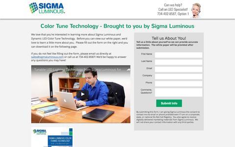Screenshot of Landing Page sigmaluminous.com - Sigma Luminous White Paper Download - captured Aug. 1, 2016