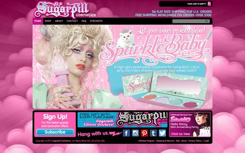 Screenshot of Home Page sugarpill.net - SUGARPILL - captured Oct. 7, 2014