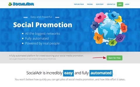 Screenshot of Home Page socialadr.com - SocialAdr - Social Media Marketing Services SocialAdr - Social Media Marketing Services - captured July 16, 2015