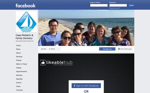 Screenshot of Maps & Directions Page facebook.com - Cape Pediatric & Family Dentistry | Facebook - captured July 6, 2018