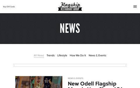 Screenshot of Press Page flagshiprestaurantgroup.com - News - Flagship Restaurant Group - captured Aug. 4, 2016
