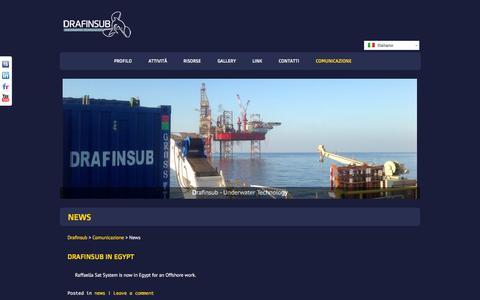 Screenshot of Press Page drafinsub.it - News | Drafinsub - captured Oct. 27, 2014