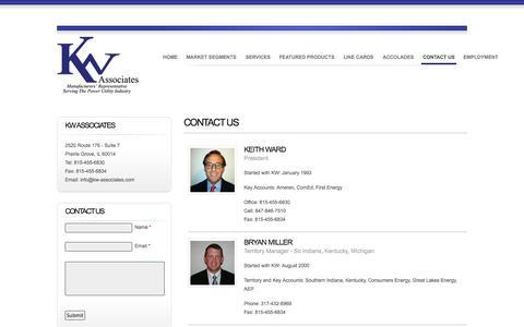 Screenshot of Contact Page kw-associates.com - Contact Us | KW Associates - captured Sept. 30, 2014