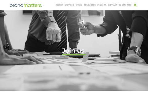 Screenshot of Jobs Page brandmatters.com.au - Careers   BrandMatters - captured March 21, 2019