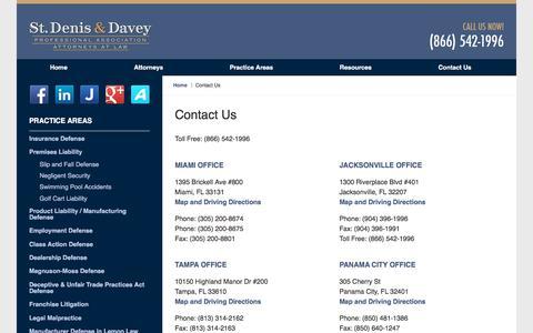Screenshot of Contact Page stdenisdavey.com - Contact Us :: Jacksonville Auto Dealership Attorney St. Denis & Davey - captured Nov. 8, 2017