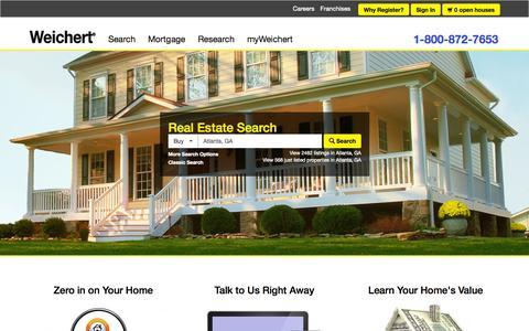 Screenshot of Home Page weichert.com - Weichert: Realtors, Real Estate, Homes For Sale - captured Sept. 18, 2014