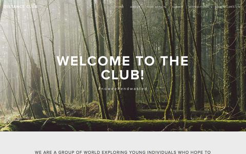 Screenshot of About Page distanceclub.com - ABOUT — Distance Club - captured Sept. 30, 2014