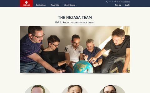 Screenshot of Team Page nezasa.com - Nezasas great team members - Nezasa Travel - captured Oct. 28, 2014