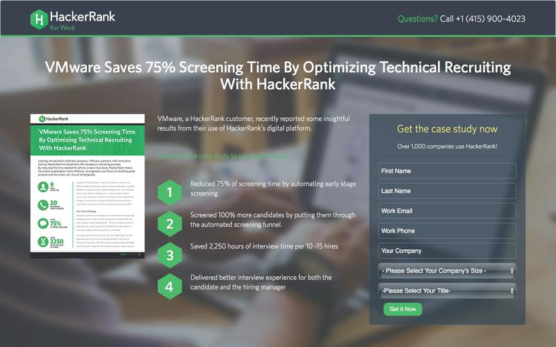 VMware Saves 75% Screening Time By Optimizing Technical Recruiting With HackerRank