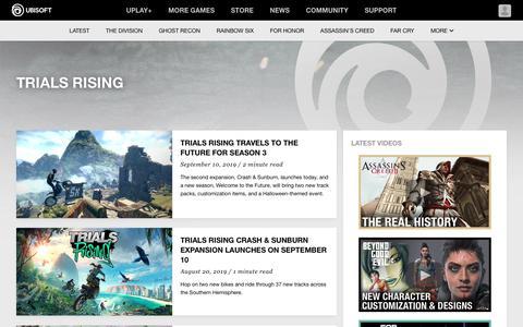 Screenshot of Trial Page ubisoft.com - Trials Rising - Ubisoft® - Official Ubisoft News, Previews and Features - captured Nov. 8, 2019