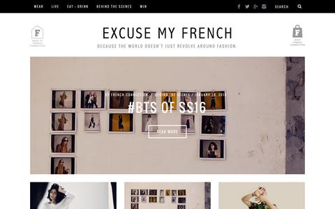 Screenshot of Blog frenchconnection.com - French Connection US Fashion Blog - captured March 29, 2016