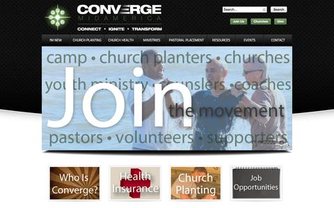 Screenshot of Home Page convergemidamerica.org - Converge MidAmerica - captured Jan. 27, 2015