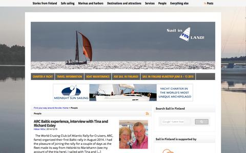Screenshot of Team Page sail-in-finland.info - Interviews - Sail in Finland - captured Aug. 2, 2015