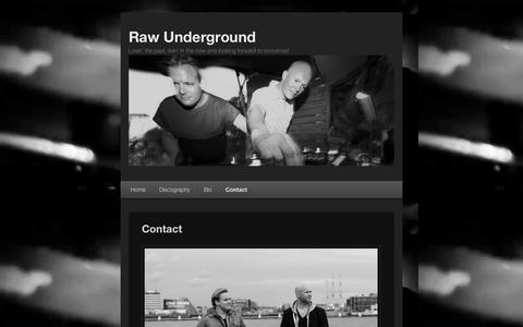Screenshot of Contact Page raw-underground.com - Raw Underground Amsterdam | Ibiza Sonica, Amsterdam | Underground Source, New York - captured Oct. 26, 2014