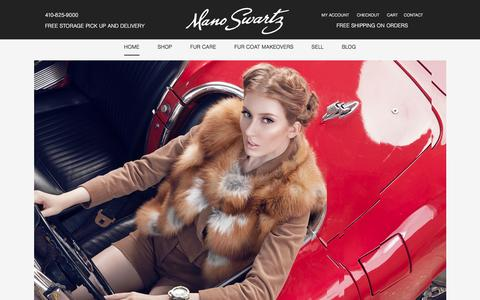 Screenshot of Home Page manoswartz.com - Mano Swartz Furs | Fine Coats, Vests and Jackets | Furrier - captured Dec. 21, 2015