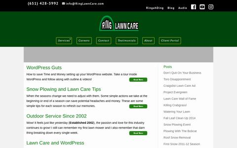 Screenshot of Blog ringlawncare.com - Ring Lawn Care Posts - captured Sept. 21, 2018