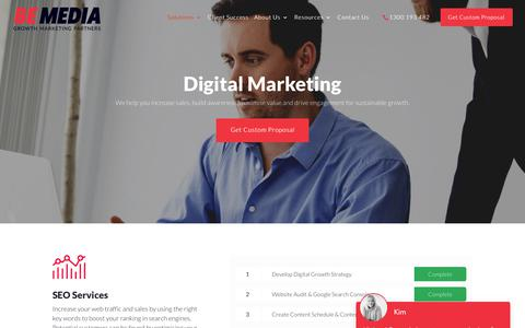 Screenshot of Services Page bemedia.com.au - Online Marketing Services & Strategies That Drive Traffic | Be Media - captured Nov. 23, 2019