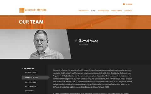 Screenshot of Team Page alsop-louie.com - Alsop Louie Partners - captured Oct. 4, 2014