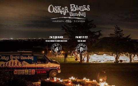 Screenshot of Contact Page oskarblues.com - Oskar Blues - Contact Us - captured April 4, 2016