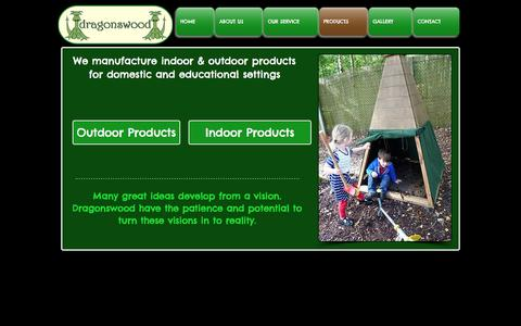 Screenshot of Products Page dragonswood.co.uk - Products | Indoor and outdoor wood play equipment - captured Nov. 24, 2016