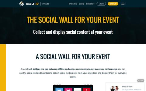 Screenshot of walls.io - The Social Wall for Your Event —Walls.io - captured July 20, 2016