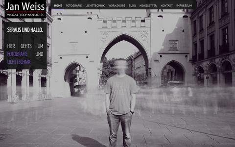 Screenshot of Home Page jwvt.de - jwvt.de – Jan Weiss Veranstaltungstechnik & Fotografie | Ich liebe Licht und mach gern Fotos. - captured Oct. 6, 2014