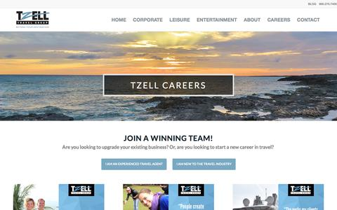 Screenshot of Jobs Page tzell.com - CAREERS - captured Sept. 24, 2018