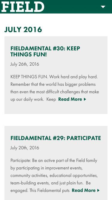 July 2016 - Field Fastener