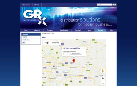 Screenshot of Maps & Directions Page gr-electrical.co.uk - GR Electrical : Map - captured Nov. 9, 2018