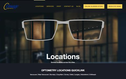 Screenshot of Locations Page image.ca - Eye Care Locations   Image Optometry - captured Oct. 14, 2017