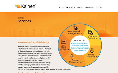 Screenshot of Services Page kaihen.ca - Services - Kaihen | Getting Business Ready - captured Oct. 14, 2018