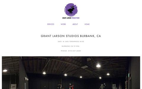 Screenshot of Locations Page grantlarsonproductions.com - Locations — Grant Larson Productions - captured Sept. 30, 2018
