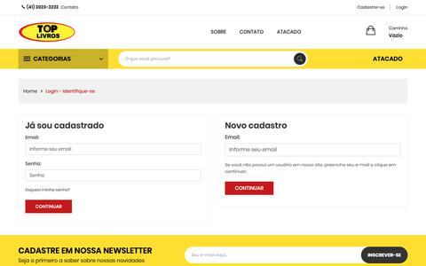 Screenshot of Login Page toplivros.com.br - Toplivros - Login - captured Oct. 20, 2018