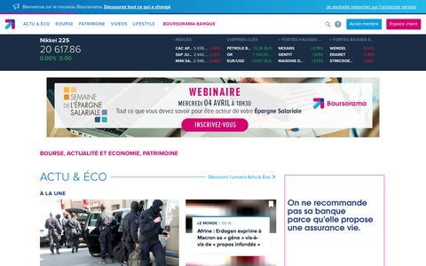 Actualité économique, Bourse, Banque en ligne - Boursorama