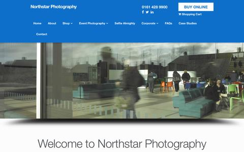 Screenshot of Home Page northstarphoto.co.uk - Home - Northstar Photography - captured Oct. 22, 2017