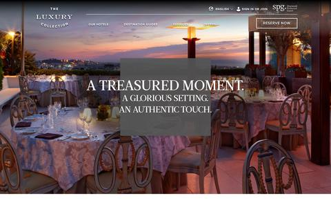 Screenshot of Services Page starwoodhotels.com - Luxury Hotel Services & Amenities | The Luxury Collection - captured Jan. 31, 2018