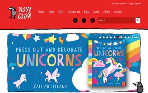 Screenshot of Home Page nosycrow.com - Nosy Crow | Independent children's book and app publisher - captured Dec. 9, 2017