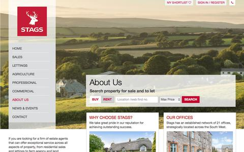 Screenshot of About Page stags.co.uk - Stags Estate Agents UK | About Stags - captured Sept. 21, 2018