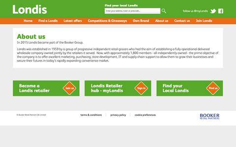 Screenshot of About Page londis.co.uk - About us - Londis - captured Sept. 27, 2018
