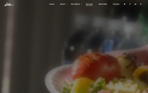 Screenshot of Services Page food-ex.com - Services | Food-Ex - captured Jan. 8, 2016
