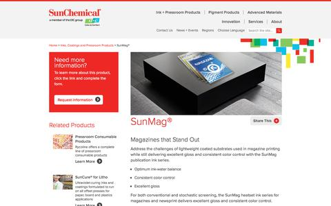 Heatset Ink | SunMag | Sun Chemical