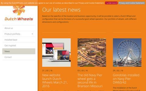 Screenshot of Press Page dutchwheels.com - News | Dutch Wheels - captured Nov. 24, 2016