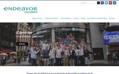 Screenshot of Home Page endeavor.org.co - Endeavor   Emprendimiento de Alto Impacto - captured Sept. 23, 2018