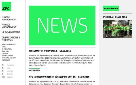 Screenshot of Press Page cpc-ag.de - CPC AG: News - captured Oct. 9, 2016