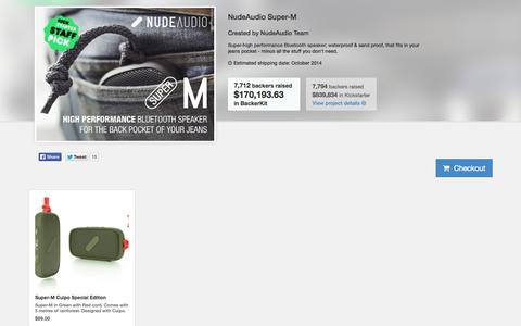 Screenshot of Products Page nudeaudio.com - NudeAudio | Bluetooth Speakers - captured Sept. 24, 2014