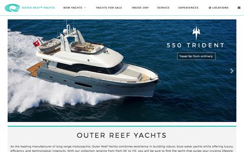 Screenshot of Home Page outerreefyachts.com - Outer Reef Yachts | Global Long Range Yacht Builder - captured Jan. 12, 2016
