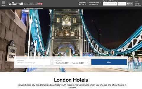 Top Hotels in London | Marriott London Hotels